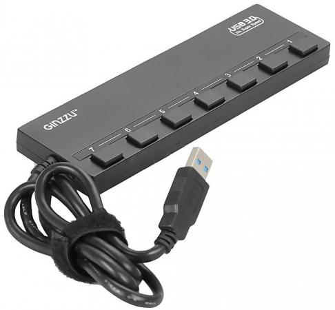 Концентратор USB 3.0 GINZZU GR-388UAB 4 х USB 3.0 3 x USB 2.0 черный цена 2017