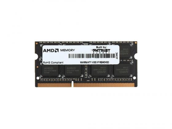 Оперативная память для ноутбука 8Gb (1x8Gb) PC3-12800 1600MHz DDR3 SO-DIMM CL11 AMD AE38G1601S2-UO оперативная память 8gb pc3 12800 1600mhz ddr3 dimm amd r538g1601u2s uo