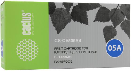 Тонер-картридж Cactus CS-CE505AS для HP LaserJet P2055 P2035 черный 2300 стр cc527 60001 cc527 69002 formatter main logic board for hp laserjet p2055 p2055d used plotter part
