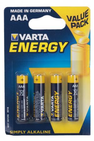 Батарейки Varta Energy LR03 AAA 4 шт