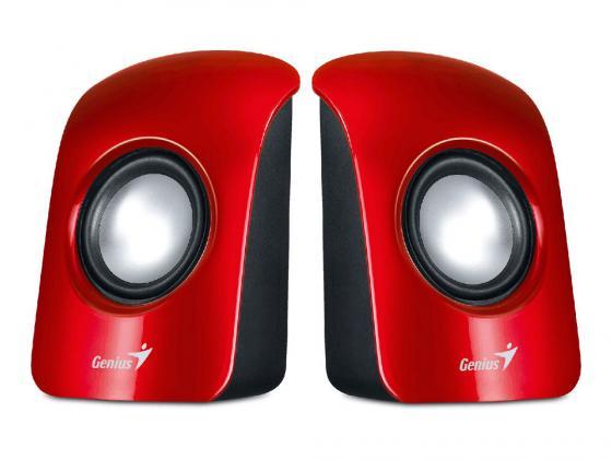 Колонки Genius SP-U115 2x0.75 Вт USB красный колонки genius sp u115 2x0 75 вт usb черный