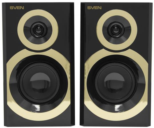 Колонки Sven SPS-619 2x10 Вт черный-золотистый girls contrast tape pants