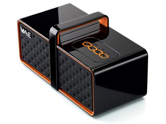 Портативная акустика Hercules WAE BTP03-MINI черный/оранжевый 4780558 колонки hercules wae bt03 bg черный зеленый 4780479