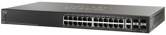 Коммутатор Cisco SF500-24-K9-G5 управляемый  стекируемый 24 порта 10/100Mbps 2x10/100/1000Mbps 2xCombo SFP cisco cisco air cap702w r k9 белый 300мбит с 5 2 4