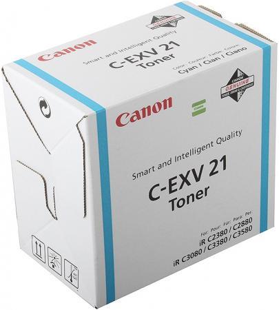 Тонер Canon C-EXV21C для iRC2880/2880i/33803380i голубой 14000 страниц