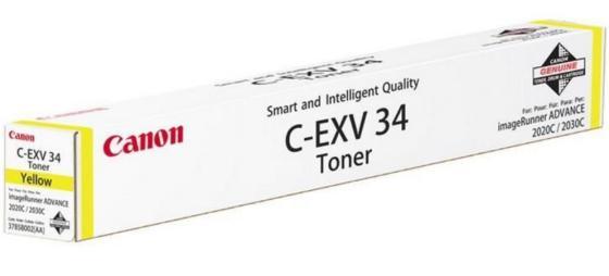Фото - Тонер Canon C-EXV34Y для iRC2020L/2030L желтый 16000 страниц тонер canon c exv17y для irc4080i 4580i желтый 30000 страниц