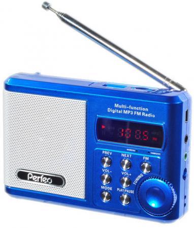 купить Портативная акустика Perfeo Sound Ranger 2 Вт FM MP3 USB microSD BL-5C 1000mAh синий PF-SV922 онлайн