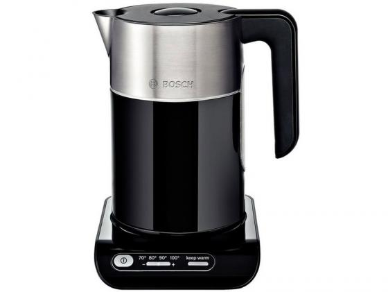 Чайник Bosch TWK 8613P 2400 Вт чёрный 1.5 л металл/пластик