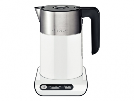 Чайник Bosch TWK8611P 2400 Вт белый 1.5 л металл чайник электрический bosch twk 8611
