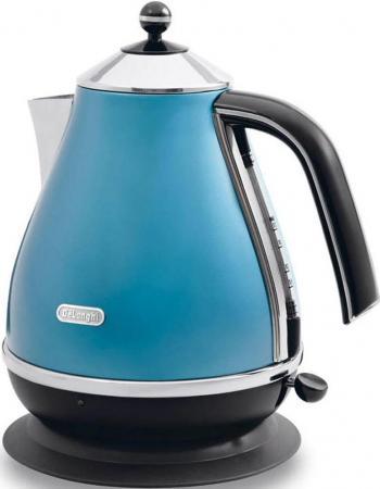 Чайник DeLonghi KBO 2001 B 2000 Вт синий 1.7 л металл/пластик цена и фото