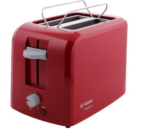 Тостер Bosch TAT 3A014 красный тостер bosch tat 8613