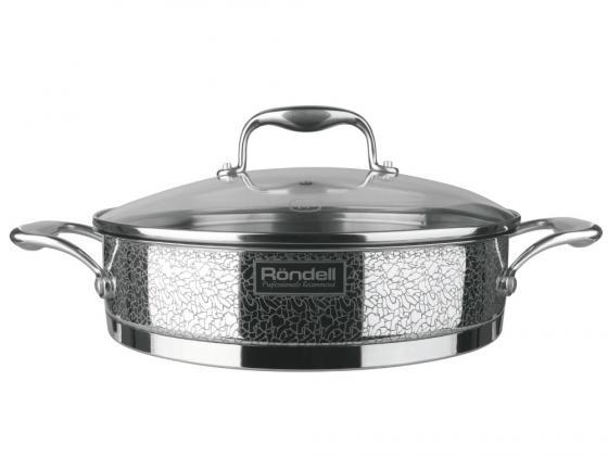 Сотейник Rondell Vintage RDS-353 26 см стеклянная крышка нержавеющая сталь ковш rondell stern rds 008 1 9л 16см стеклянная крышка нержавеющая сталь черный