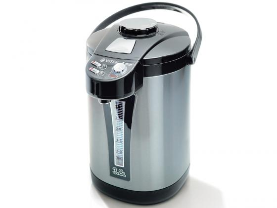 Термопот Vitek VT-1189 ВК 750 Вт 3.8 л металл чёрный серый термопот vitek vt 1188 gy 750 вт чёрный серый 3 8 л пластик