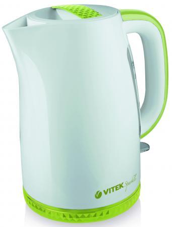 Чайник Vitek VT-1175 G 2200 Вт белый зелёный 1.7 л пластик чайник vitek vt 7008 tr 2200 вт чёрный 1 7 л пластик стекло