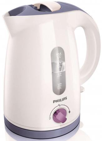 Чайник Philips HD4678/40 2400 Вт белый 1.2 л пластик чайник philips hd 4678 2400 1 2 л пластик белый