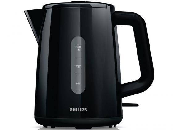 Чайник Philips HD 9300/90 2400 Вт 1.5 л пластик чёрный измельчитель philips hr7969 90 вт чёрный