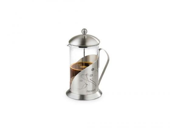 Френч-пресс Rondell Tasse RDS-102 0.8 л металл/стекло серебристый чайник заварочный rondell tasse rds 101 0 6л