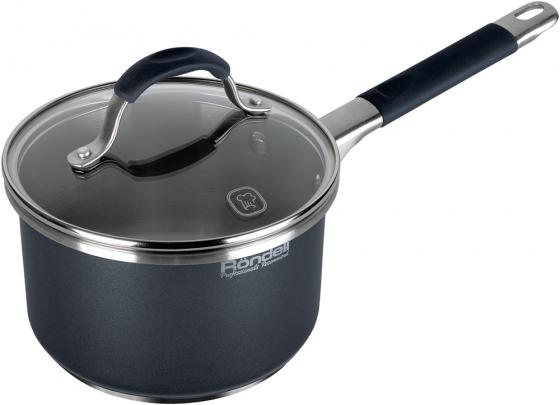 Ковш Rondell Stern RDS-008 1.9л 16см стеклянная крышка нержавеющая сталь черный шумовка gipfel nikita длина 34 5 см