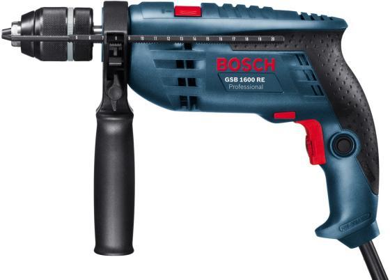 Ударная дрель Bosch GSB 1600 RE Professional 701Вт ударная дрель bosch gsb 1600 re