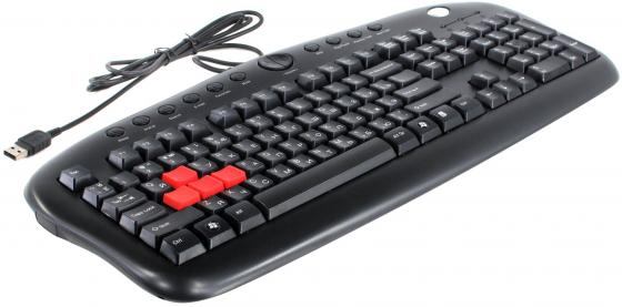 Клавиатура проводная A4TECH KB-28G-1 USB черный