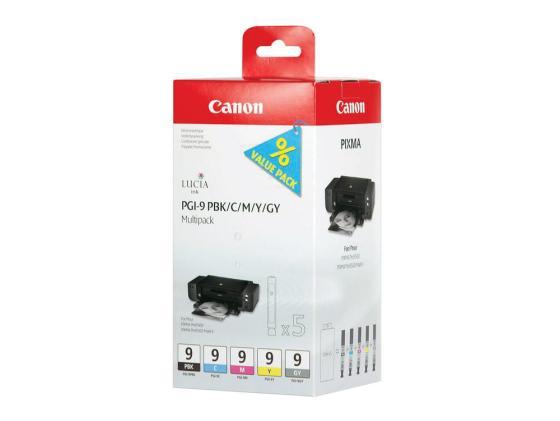 Картридж Canon PGI-9 PBK/C/M/Y/GY для PIXMA MX7600 Pro9500 pro9500 фотокартридж черный голубой пурпурный жёлтый серый картридж cactus cs pgi9y для canon pixma x7000 mx7600 pro9500 желтый