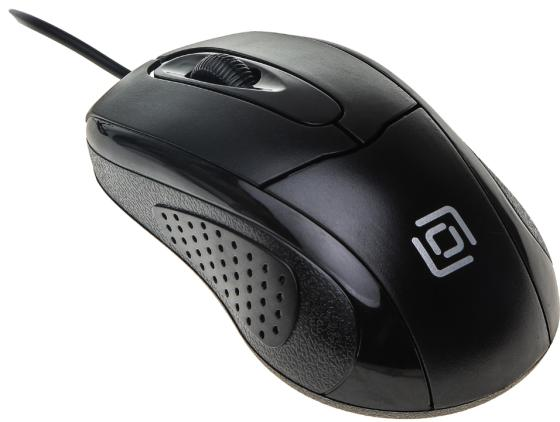 Мышь проводная Oklick 305M чёрный USB цена и фото