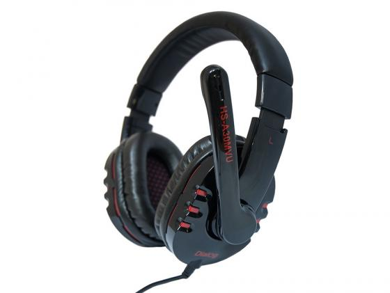 Гарнитура Dialog Aria HS-A30MVU черный наушники dialog aria hp a65 черный красный hp a65 black red