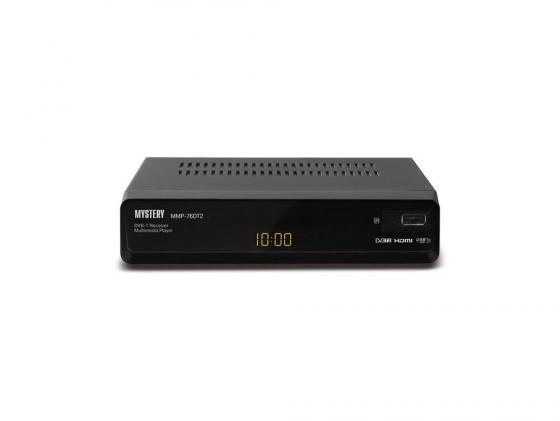 Тюнер цифровой DVB-T2 MYSTERY MMP-76DT2 тв приставка mystery mmp 71dt2