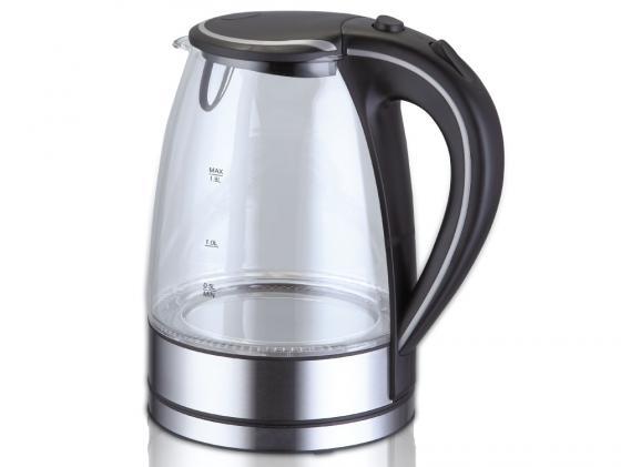 Чайник Kromax Endever KR-300G — — металл/стекло чёрный