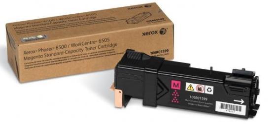 Тонер-картридж Xerox 106R01599 для Phaser 6500 / WorkCentre 6505 пурпурный 1000стр тонер картридж xerox 106r01598 для phaser 6500 workcentre 6505 голубой 1000стр