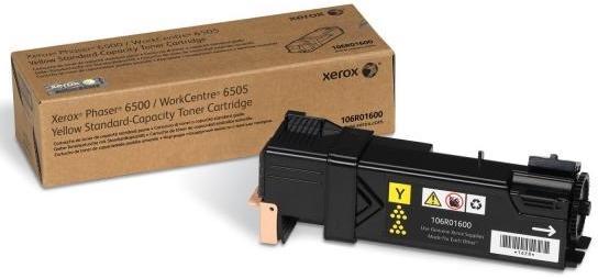 Тонер-картридж Xerox 106R01600 для Phaser 6500 / WorkCentre 6505 желтый 1000стр