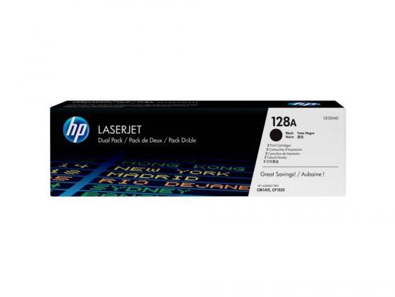 Картридж HP CE320AD N128A для Color LaserJet Pro CP1525N/CP1525NW черный 2х2000стр nv print ce321ac cyan тонер картридж для hp color laserjet pro cp1525n cp1525nw