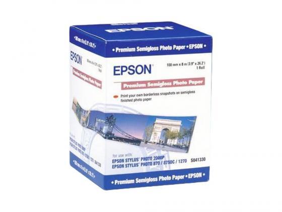 Бумага Epson Premium Semiglossy Photo Paper 251г/кв.м 100мм x 8м C13S041330
