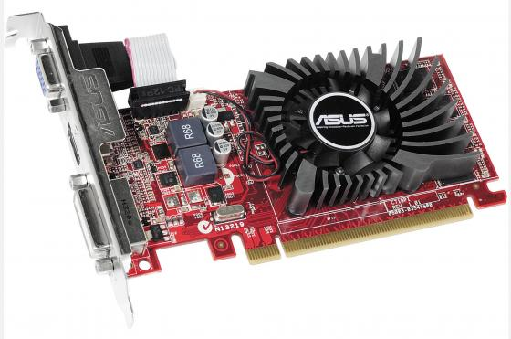 Видеокарта 2048Mb ASUS R7 240 2GD3 L PCI-E 128bit GDDR3 2xDVI HDMI DP R7240-2GD3-L Retail видеокарта 6144mb msi geforce gtx 1060 gaming x 6g pci e 192bit gddr5 dvi hdmi dp hdcp retail