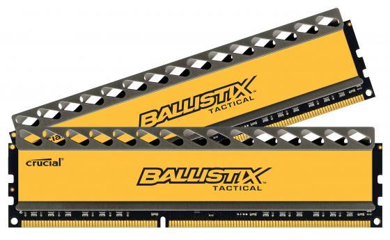 Оперативная память 16Gb (2x8Gb) PC3-14900 1866MHz DDR3 DIMM Crucial Ballistix Tactical CL9 BLT2CP8G3D1869DT1TX0CEU оперативная память crucial ballistix tactical blt8g3d1608et3lx0ceu ddr3l 1 8гб pc3 12800 1600мгц dimm