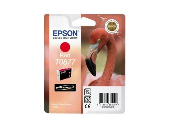 Картридж Epson C13T08774010 T08774010 для Epson Stylus Photo R1900 красный картридж epson t009402 для epson st photo 900 1270 1290 color 2 pack
