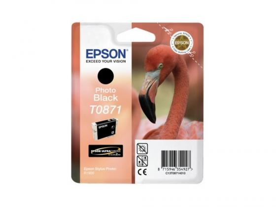 Картридж Epson C13T08714010 T08714010 для Epson Stylus Photo R1900 черный картридж epson t00940210 для stylus photo 900 1270 1290c double pack 2 шт уп