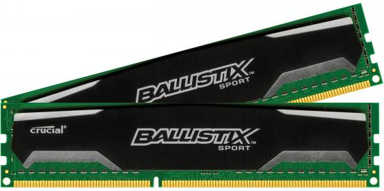 Оперативная память 8Gb (2x4Gb) PC3-12800 1600MHz DDR3 DIMM Crucial Ballistix Sport CL9 BLS2CP4G3D1609DS1S00CEU for nissan x trail t32 2014 2018 car rearguards stainless steel rear bumper trunk fender sill plate protector guard covers trim