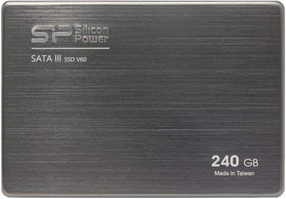 Твердотельный накопитель SSD 2.5 240 Gb Silicon Power Velox V60 Read 550Mb/s Write 520Mb/s MLC ssd твердотельный накопитель 2 5 240 gb silicon power velox v70 read 557mb s write 507mb s sata iii sp240gbss3v70s25
