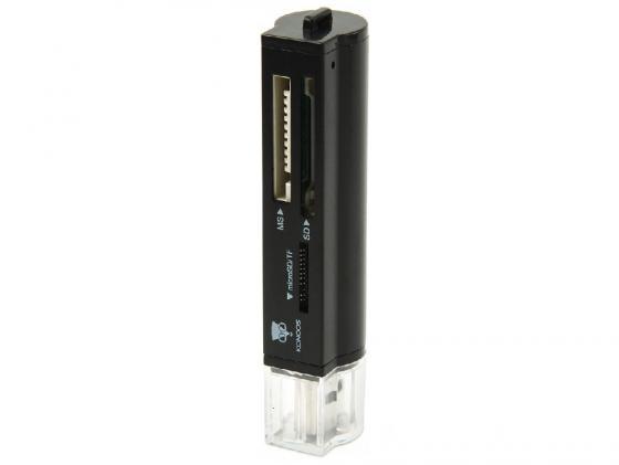Картридер внешний Konoos UK-31 SD/MMC/SDHC/MS/M2/TF USB3.0 картридер внешний transcend ts rdp8k cf mmc sd sdhc microsdhc msduo msmicro черный