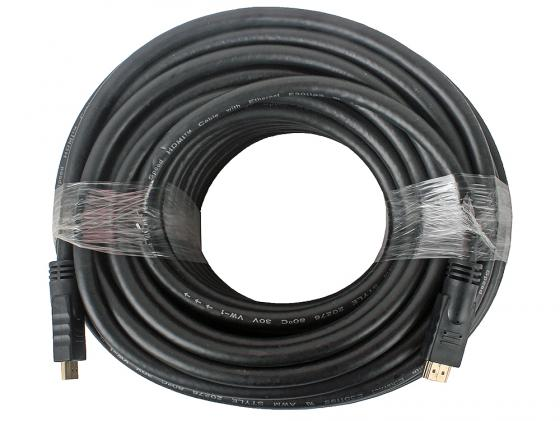 Кабель HDMI 30м Gembird v1.3 черный позол.разъемы экран CC-HDMI4-30M аксессуар gembird cablexpert hdmi 19m v1 4 15m cc hdmi4 15m
