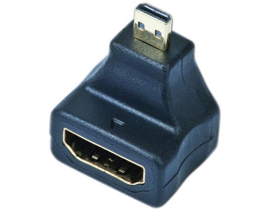 Переходник HDMI-micro HDMI Gembird угловой золотые разъемы A-HDMI-FDML переходник hdmi m dvi m gembird золотые разъемы пакет a hdmi dvi 1