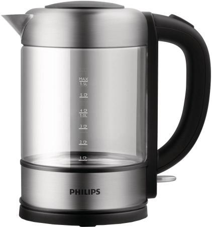 Чайник Philips HD 9342/01 2200 Вт серебристый 1.5 л металл/стекло цена и фото