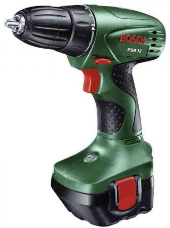 Аккумуляторная дрель-шуруповерт Bosch PSR 12 дрель электрическая bosch psb 500 re 0603127020 ударная