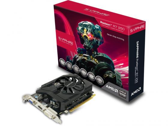 Видеокарта 2048Mb Sapphire R7 250 PCI-E BOOST D-Sub DVI HDMI 11215-01-20G Retail видеокарта 6144mb msi geforce gtx 1060 gaming x 6g pci e 192bit gddr5 dvi hdmi dp hdcp retail