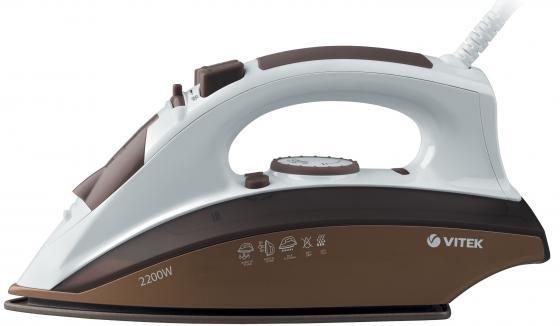 Утюг Vitek VT-1201-BN 2200Вт бело-коричневый