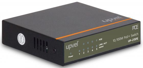 Коммутатор Upvel UP-215FE 5 портов PoE 10/100Mbps коммутатор upvel up 215fe