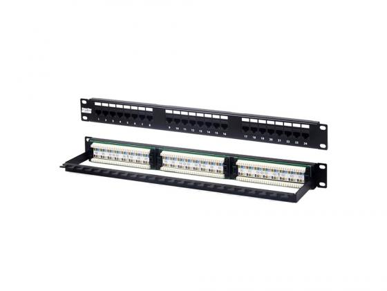 Патч-панель Hyperline PP2-19-24-8P8C-C6-110 19 1U 24 порта RJ-45 категория 6 Dual IDC