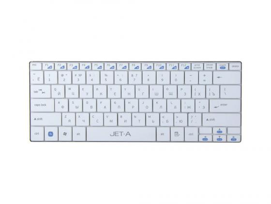 где купить Клавиатура Jet.A SlimLine K7 W USB ультракомпактная белый дешево