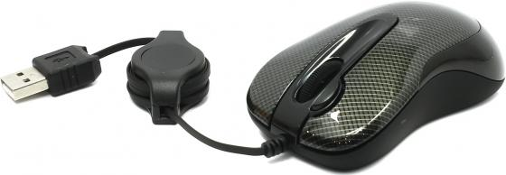 Мышь проводная A4TECH N-60F-2 Carbon чёрный USB мышь a4tech n 60f 2 black usb